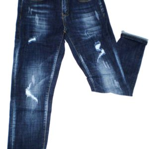 Παντελόνι jean ελαστικό με ελαφριά σκισίματα. Dark Blue