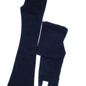 Βαμβακερό τζιν παντελόνι σε σκούρο μπλε χρώμα