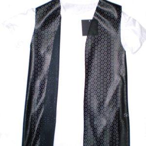 VistaBazaar Γυναικείο Γιλέκο Δερματίνη Και Μακό Μπλούζα O/S
