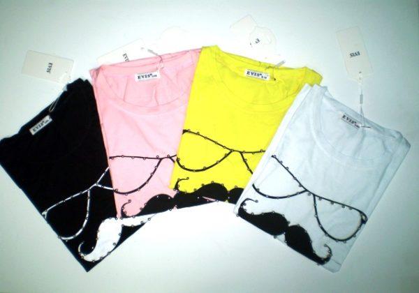 VistaBazaar Γυναικείο t-shirt στάμπα 3D και πέρλες.